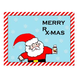 Medical holiday greeting postcard
