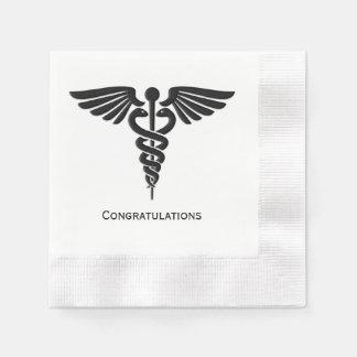 Medical Insignia Caduceus Congratulations Napkin