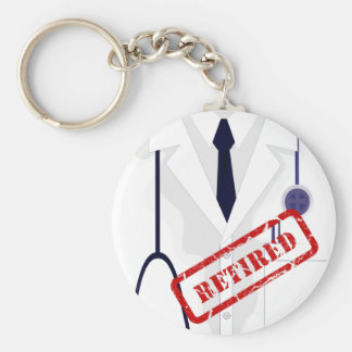 Medical Lab Coat Jacket Doctor Retired Keychain