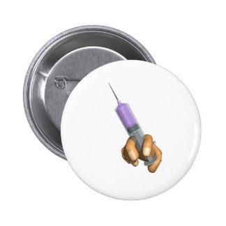 Medical Needle Put own slogan Pinback Button