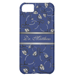 Medical, Nurse, Doctor themed stethoscopes, Name Cover For iPhone 5C