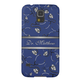Medical, Nurse, Doctor themed stethoscopes, Name Galaxy S5 Cover