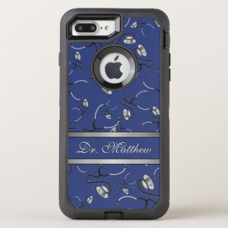 Medical, Nurse, Doctor themed stethoscopes, Name OtterBox Defender iPhone 8 Plus/7 Plus Case