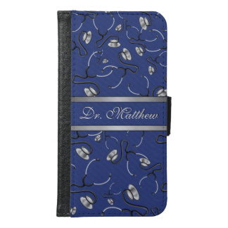 Medical, Nurse, Doctor themed stethoscopes, Name Samsung Galaxy S6 Wallet Case