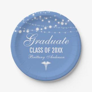 Medical or Nursing School Graduation Party Paper Plate