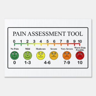 Medical Pain Assessment Tool Chart Sign