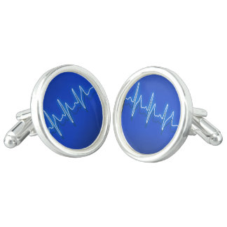 Medical Pulse Cufflinks