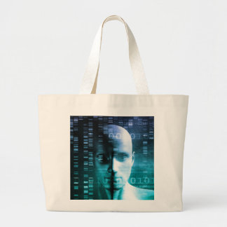 Medical Research in Genetics and DNA Science Large Tote Bag