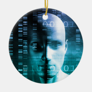 Medical Research in Genetics and DNA Science Round Ceramic Ornament