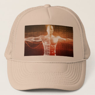 Medical Research on the Human Body as Concept Trucker Hat