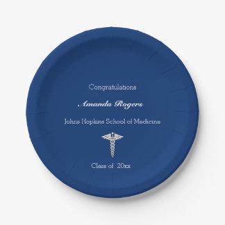 Medical School Graduation, Caduceus , Custom Paper Plate