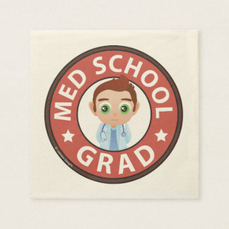 Medical School Graduation Disposable Napkins