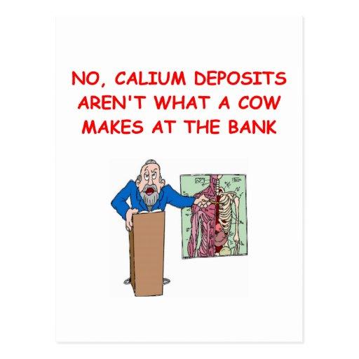 medical school joke post card