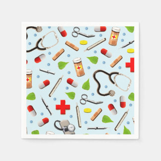 medical school party paper napkins