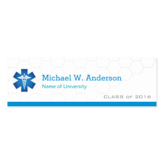 Medical School Student Graduation Name Card Pack Of Skinny Business Cards