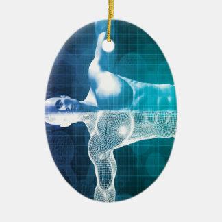 Medical Science Ceramic Oval Ornament