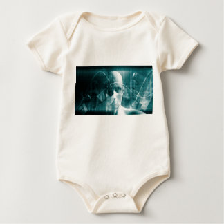 Medical Science Futuristic Technology as a Art Baby Bodysuit