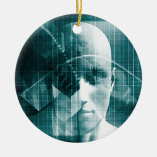 Medical Science Futuristic Technology as a Art Ceramic Ornament