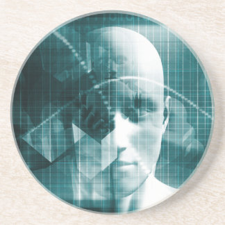 Medical Science Futuristic Technology as a Art Coaster