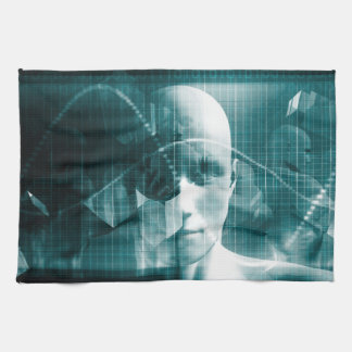 Medical Science Futuristic Technology as a Art Kitchen Towel