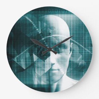 Medical Science Futuristic Technology as a Art Large Clock