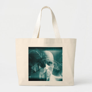 Medical Science Futuristic Technology as a Art Large Tote Bag
