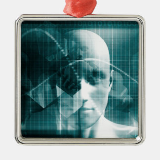 Medical Science Futuristic Technology as a Art Metal Ornament