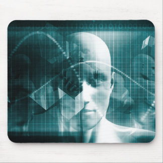 Medical Science Futuristic Technology as a Art Mouse Pad