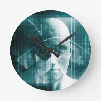 Medical Science Futuristic Technology as a Art Round Clock