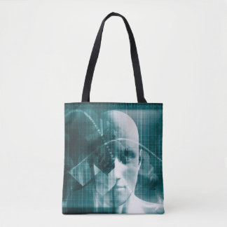 Medical Science Futuristic Technology as a Art Tote Bag