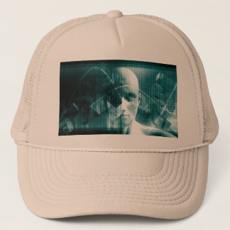 Medical Science Futuristic Technology as a Art Trucker Hat
