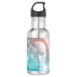 Medical Science of the Future with Molecule Backgr 532 Ml Water Bottle