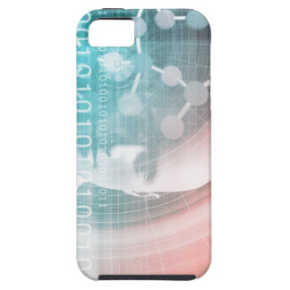 Medical Science of the Future with Molecule Backgr iPhone 5 Case