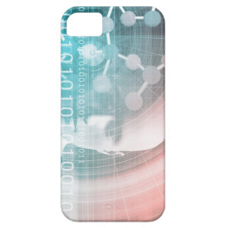 Medical Science of the Future with Molecule Backgr iPhone 5 Covers