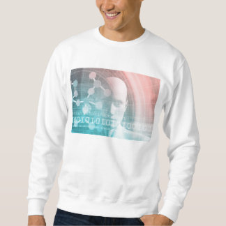 Medical Science of the Future with Molecule Backgr Sweatshirt