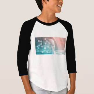 Medical Science of the Future with Molecule Backgr T-Shirt
