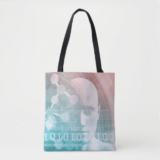 Medical Science of the Future with Molecule Tote Bag