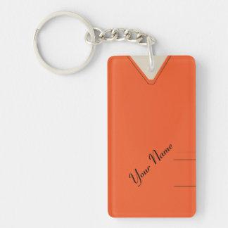 Medical Scrubs Nurse Doctor Orange Custom Acrylic Acrylic Keychains