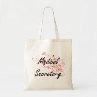 Medical Secretary Artistic Job Design with Hearts