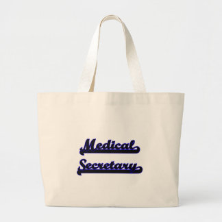 Medical Secretary Classic Job Design Jumbo Tote Bag