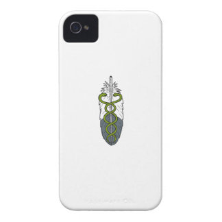 Medical Snake Eagle Feather Drawing Case-Mate iPhone 4 Cases