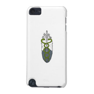 Medical Snake Eagle Feather Drawing iPod Touch (5th Generation) Cases