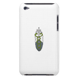 Medical Snake Eagle Feather Drawing iPod Touch Cases