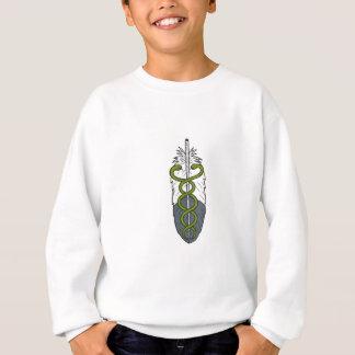Medical Snake Eagle Feather Drawing Sweatshirt