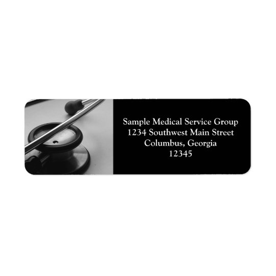 Medical Stethoscope, Black and White