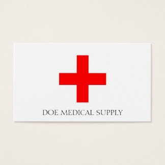 Medical Supply W/W Business Card