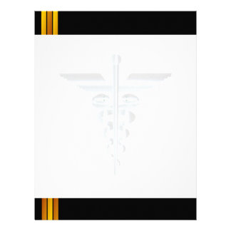 Medical Symbol Asclepius Caduceus watermark Letter Letterhead
