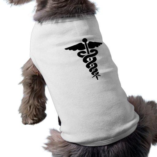 Medical Symbol Caduceus Dog Tee