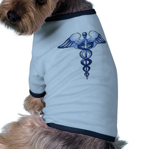 Medical Symbol Caduceus logo art Dog Tee