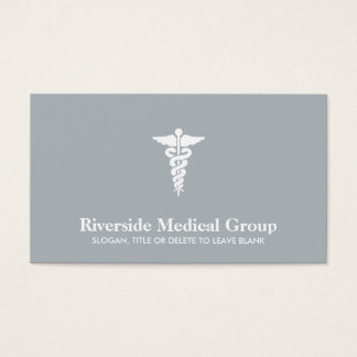 Medical Symbol Emergency Medicine and Care Gray Business Card